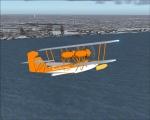 Hall Flying Boat over Coney Island, NY