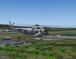 Helicopter over Piarco Airport