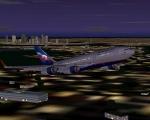 Aeroflot IL96 out of Boston