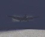 Heavy Snow on Landing