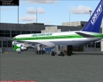 Emerald Harbor Air LDS-767 at gate