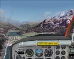 Flying over Lake Silvaplana
