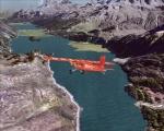 Flying over Lake Sils