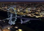 Cessna Skylane passing London Eye