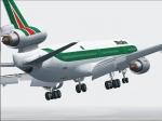 Alitalia MD-11 turning for final in Boston