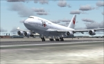 taking off JAL 747-400