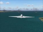 Flying towards Gibraltar Concept Bridge