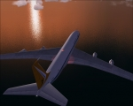 Flying to the sunset
