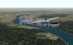 Cessna O-2 over the Ohio River