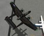 Black Widow flying low