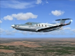 Pilatus PC-12 in Flight