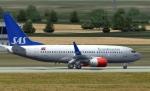 SAS Boeing 737 at Prague