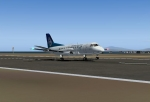 Saab 340 Touching down