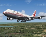 747-400 PW on Finals