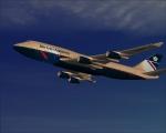 BA 747-400 Approaching cruise altitude - eye candy