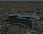 BA 747-400 Descending over Paris