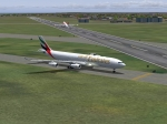 Emirates waiting for its turn to take-off