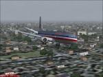 American 737 on Final Approach
