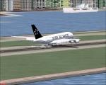 a380 touchdown at Hong Kong