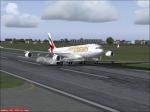 Emirates Landing at Trivandrum International Airport