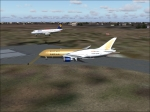 Gulf Air Waiting for Clearance for Departure