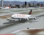 747-400 departing LAX