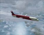 MD-80 over Faroe Islands