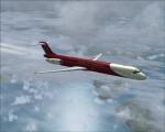 MD-80 over Faroe Islands
