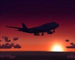 Boeing 747-400 landing at Kastrup