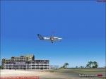 Aircraft over St Maarten beach