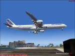 Air France landing at St Maarten
