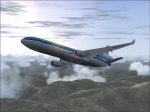 MD11 KLM over mountains