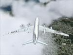 Tupolev Tu-114 over clouds