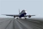 Level D 767-300 Touchdown