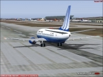 United on Runway