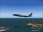 United landing at SFO
