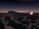 Wardair 747 climbing to cruise alt
