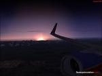 Sunrise over california