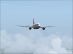 A320 Swiss Air over clouds