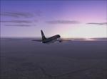 Sunrise: leaving London to Paris Orly