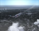American Airline sharp right turn
