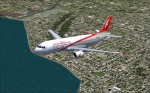 Air Arabia A320 over coast
