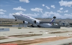 Air France B77W leaving KLAX