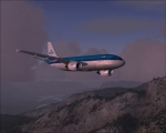 Airbus A310 KLM Climbing over Alps
