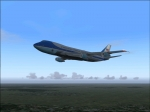 Air Force One en route to KAVP