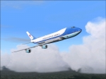 Air Force One getting ready to land