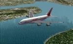 Air India A380-800 climbing
