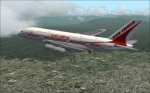Air India A380-800 against the beautiful hills