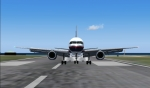 757 Touchdown at Princess Juliana Intl.