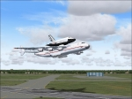 AN-225 carrying the Buran space shuttle